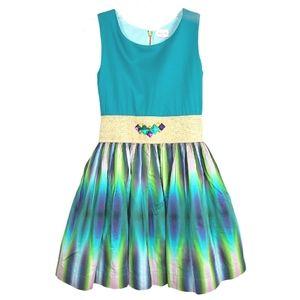 Zoe Ltd Embellished Turquoise Dress